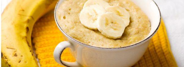 Bolo de Caneca De Banana