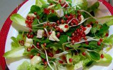 Salada Verde Com Romã