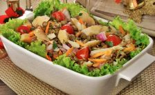Salada De Bacalhau Com Lentilha E legumes