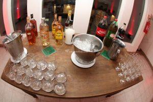 a conta de bebidas