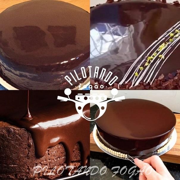 Cobertura Espelhada De Chocolate