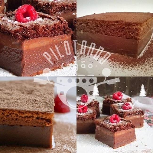 Receita De Bolo Mágico De Chocolate