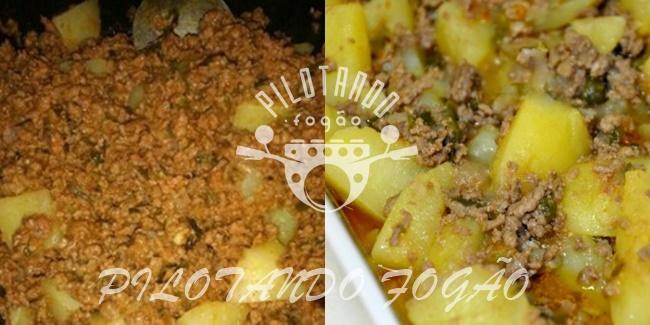 Batata Com Carne Moída