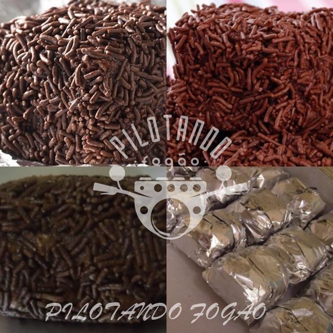 Bolo De Chocolate Gelado Embrulhado