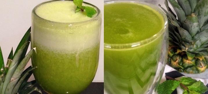 Suco de Abacaxi e Hortelã