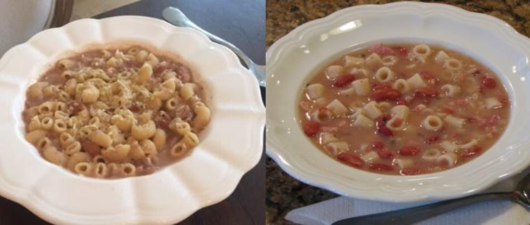 Sopa De Macarrão Com Feijão